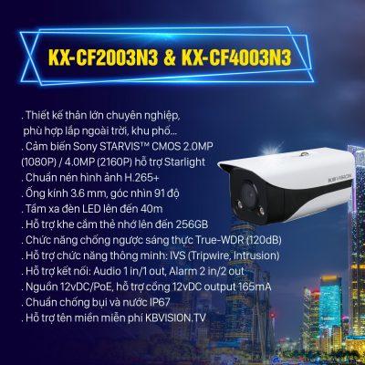 Camera IP KX-CF2003N3 & KX-CF4003N3